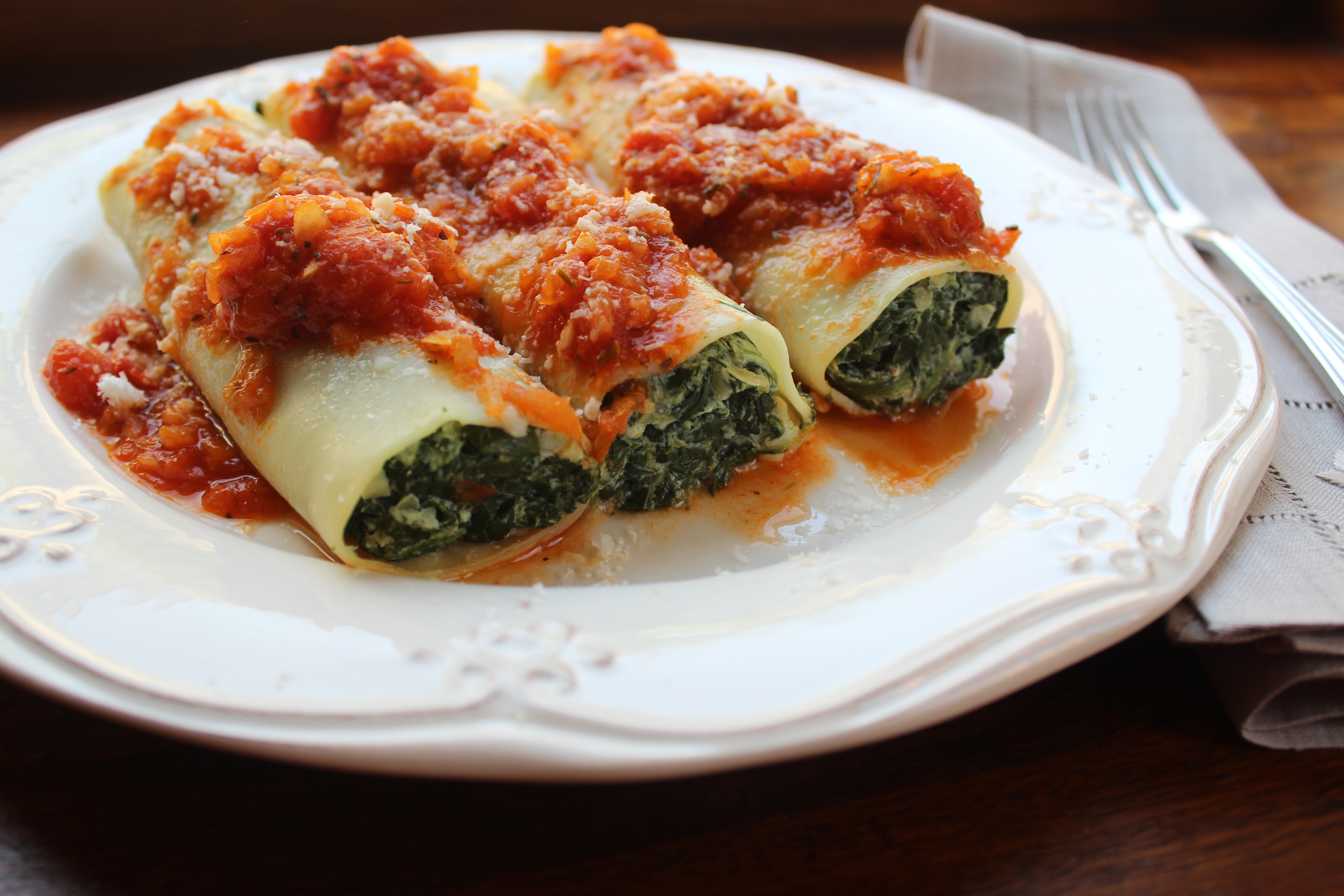 Spinach Cannelloni with Ricotta Cheese | La Petite Panière